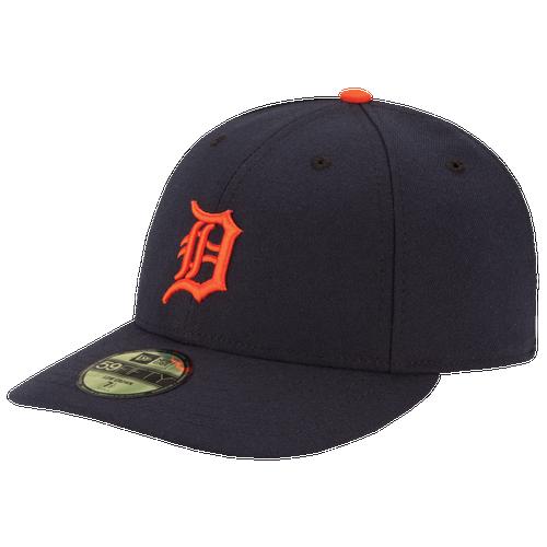 New Era MLB 59Fifty Low Profile Authentic Cap - Men's - Detroit Tigers - Navy / Orange
