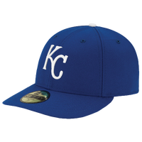 New Era MLB 59Fifty Low Crown Authentic Cap - Men's - Kansas City Royals - Blue / White