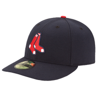 New Era MLB 59Fifty Low Profile Authentic Cap - Men's - Boston Red Sox - Navy / Red