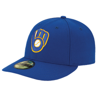 New Era MLB 59Fifty Low Crown Authentic Cap - Men's - Milwaukee Brewers - Blue / Yellow
