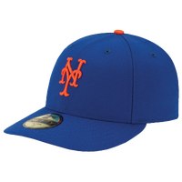 New Era MLB 59Fifty Low Profile Authentic Cap - Men's - New York Mets - Blue / Orange