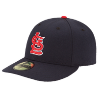 New Era MLB 59Fifty Low Crown Authentic Cap - Men's - St. Louis Cardinals - Navy / Red