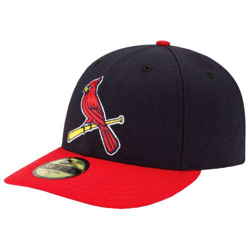 New Era MLB 59Fifty Low Profile Authentic Cap - Men's - St. Louis Cardinals - Navy / Red