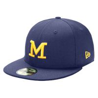 New Era College 59Fifty Cap - Men's - Michigan Wolverines - Navy / Yellow