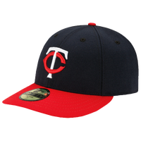 New Era MLB 59Fifty Low Crown Authentic Cap - Men's - Minnesota Twins - Navy / Red