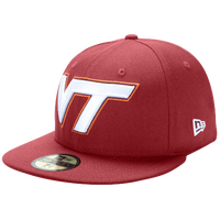 New Era College 59Fifty Cap - Men's - Virginia Tech Hokies - Maroon / White