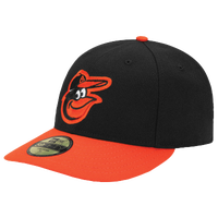 New Era MLB 59Fifty Low Crown Authentic Cap - Men's - Baltimore Orioles - Black / Orange