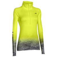 Under Armour Armour Coldgear Sublimated 1/2 Zip - Women's - Light Green / Black