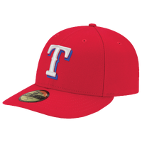 New Era MLB 59Fifty Low Profile Authentic Cap - Men's - Texas Rangers - Red / White
