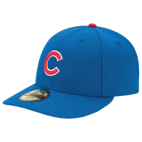 New Era MLB 59Fifty Low Crown Authentic Cap - Men's - Chicago Cubs - Light Blue / Red