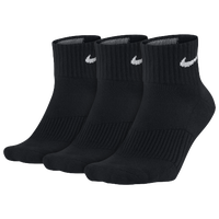 Nike 3 Pack Moisture MGT Cushion Quarter Sock - Men's - Black / Black