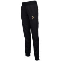 PUMA No. 1 Logo Sweatpants - Women's - Black / Gold