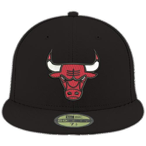 New Era NBA 59Fifty Offical Team Cap - Men's - Chicago Bulls - Black / Red