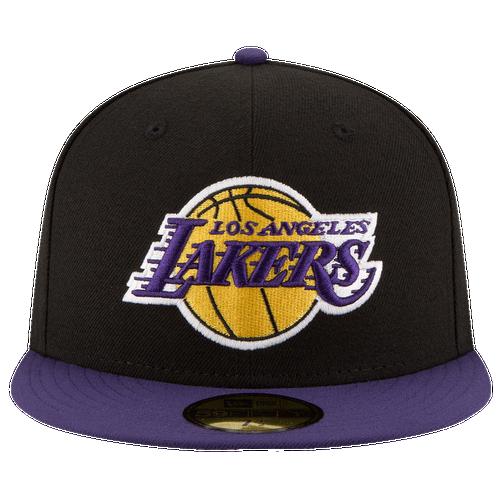 New Era NBA 59Fifty 2-Tone Team Cap - Men's - Los Angeles Lakers - Black / Purple