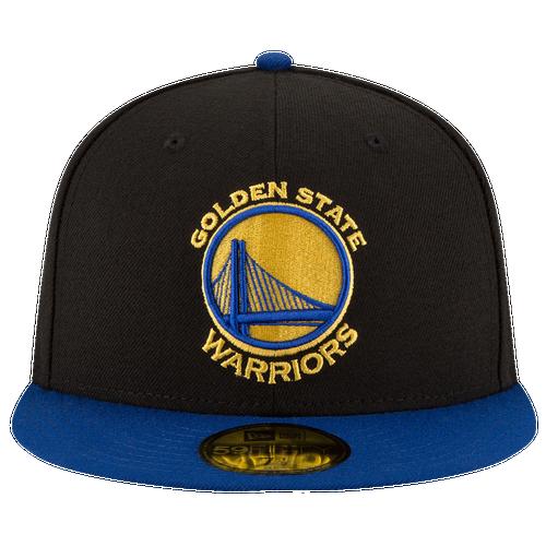 New Era NBA 59Fifty 2-Tone Team Cap - Men's - Golden State Warriors - Blue / Black