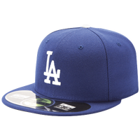 New Era 59FIFTY MLB Authentic Cap - Men's - Los Angeles Dodgers - Blue / Blue