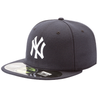 New Era MLB 59Fifty Authentic Cap - Men's - New York Yankees - Navy / Navy
