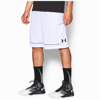 Under Armour Baseline Shorts - Men's - White / Black