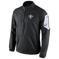 Nike NFL Lockdown 1/2 Zip Jacket - Men's - New Orleans Saints - Black / Gold