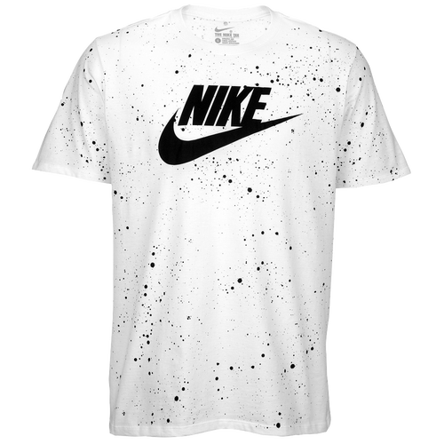 nike sparkle print t shirt men 39 s casual clothing white black. Black Bedroom Furniture Sets. Home Design Ideas