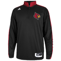 adidas College On Court L/S Shooting Shirt - Men's - Louisville Cardinals - Black / Red