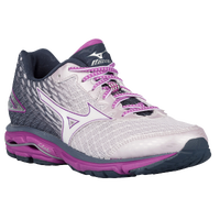 Mizuno Wave Rider 19 - Women's - Grey / Navy