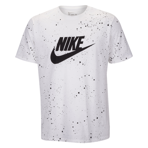 nike graphic t shirt men 39 s casual clothing white black. Black Bedroom Furniture Sets. Home Design Ideas