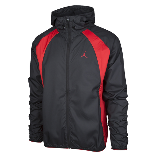 Jordan Wings Windbreaker - Men's - Basketball - Clothing - Black/Red