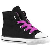 Converse CT Backzip - Girls' Toddler - Black / White
