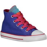 Converse All Star Party Hi - Girls' Toddler - Blue / Pink