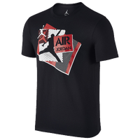 Jordan AJ Echo T-Shirt - Men's - Black / Red