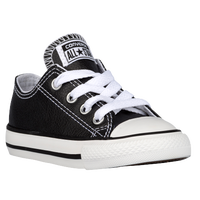Converse All Star Ox Leather - Boys' Toddler - Black / White