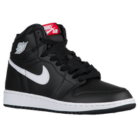 Jordan Retro 1 High OG - Boys' Grade School - Black / White