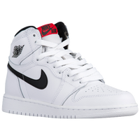 Jordan Retro 1 High OG - Boys' Grade School - White / Black