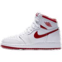 fe7a908baba795 Jordan Retro 1 High OG - Boys  Grade School - White   Red