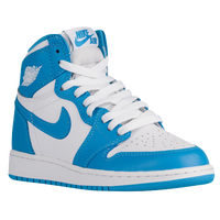 Jordan Retro 1 High OG - Boys' Grade School - White / Light Blue