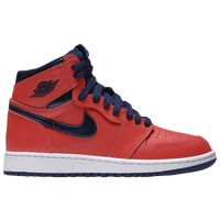 Jordan Retro 1 High OG - Boys' Grade School - Red / Navy