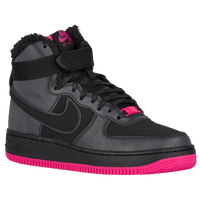 Nike Air Force 1 High - Girls' Grade School - Black / Pink