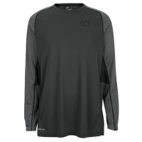 Nike KD Precision Moves Long Sleeve - Men's -  Kevin Durant - Grey / Black
