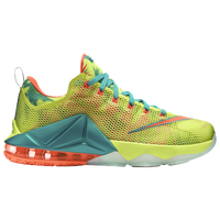 Nike LeBron 12 Low Premium - Men's -  LeBron James - Yellow / Aqua