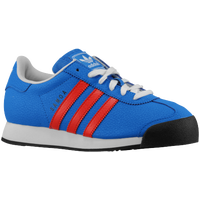 adidas Originals Samoa - Boys' Grade School - Light Blue / Red