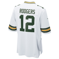 Nike NFL Game Day Jersey - Men's -  Aaron Rodgers - Green Bay Packers - White / Dark Green