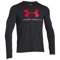 Under Armour Sportstyle Logo Long Sleeve T-Shirt - Men's - Black / Red