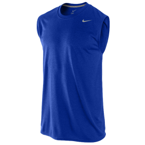 Nike Legend Dri-Fit SLVLS T-Shirt - Men's - Game Royal/Dark Grey Heather/Matte Silver