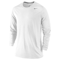 Nike Legend Poly Long Sleeve T-Shirt - Men's - All White / White