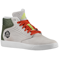 adidas D Rose Lakeshore Mid - Men's -  Derrick Rose - Grey / Dark Green