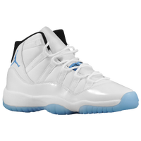 Jordan Retro 11 - Boys' Grade School - White / Light Blue