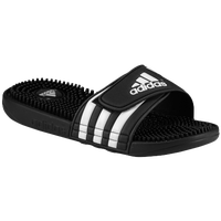 adidas Adissage - Boys' Grade School - Black / White