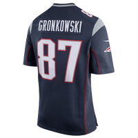 Nike NFL Game Day Jersey - Men's -  Rob Gronkowski - New England Patriots - Navy / Grey