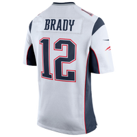 Nike NFL Game Day Jersey - Men's -  Tom Brady - New England Patriots - White / Navy